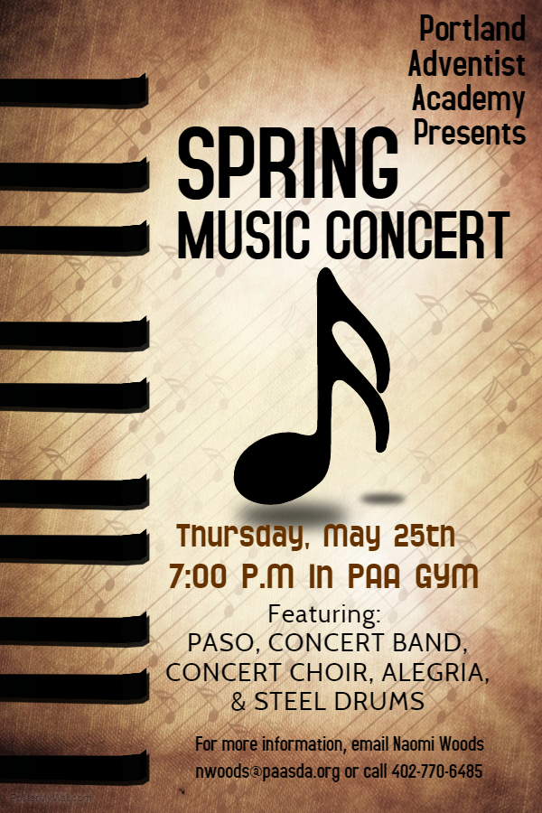 spring music concert - may 25