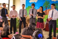 PAA students found their Spanish skills to be very helpful as they led out in a children's Sabbath School in Peru.