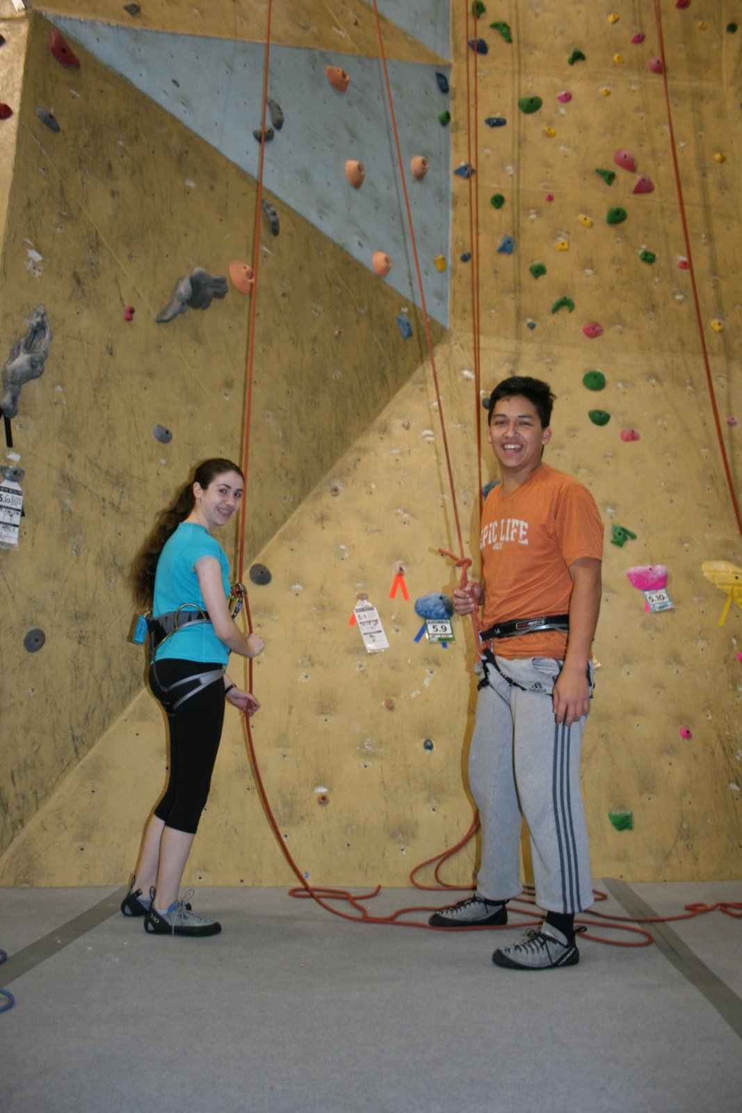 Belaying is a vital safety practice in this sport. Friendships in the club and class are strengthened through trust, accountability, and teamwork.