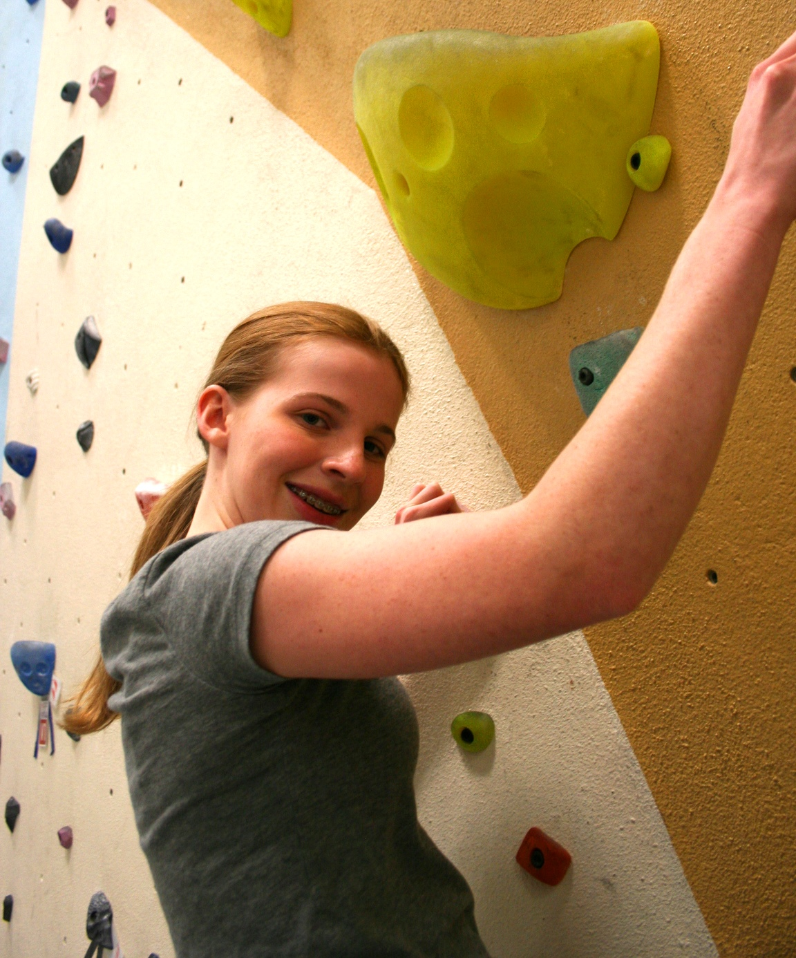 Emily is new to the sport but making efforts and improving each time she comes to the gym.